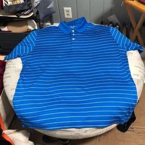 Champion Gold blue white stripe polo size XXL